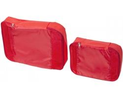 Sada dvou polyesterových cestovních tašek KABOB - červená