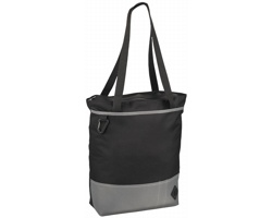 Polyesterová odnoska CAKYTA se zipem - černá / šedá
