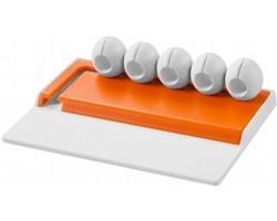 Stolní organizér kabelů COKE - bílá / oranžová