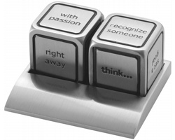 Kovové rozhodovací kostky SNOBS - stříbrná
