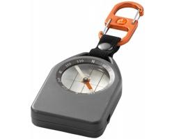 Multifunkční kompas Elevate ALVERSTONE 2v1, možností nočního použití - šedá / černá / oranžová