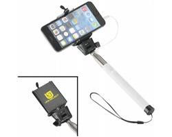 Selfie tyč DROOD pro chytré telefony - bílá