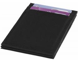 Polyesterová peněženka Marksman THEN s RFID ochranou - černá