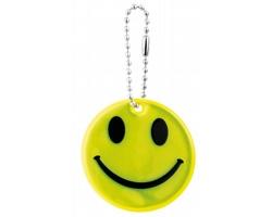 Reflexní přívěsek SMILEY ve tvaru smajlíka - žlutá