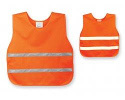 Dětská bezpečnostní vesta SKIBI II s reflexními pásky - oranžová