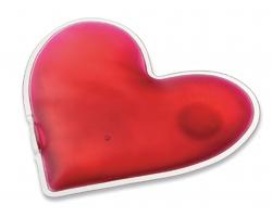Kapesní ohřívač na ruce LOVELY ve tvaru srdce - transparentní růžová