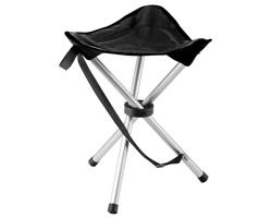 Textilní skládací židle trojnohá BEAVER TRAMPER, nosnost 100 kg - černá