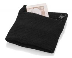 Bavlněné potítko WIPE s mini kapsičkou na zip - černá
