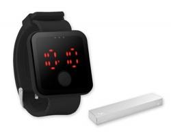 Silikonové LED hodinky TIMESO - černá
