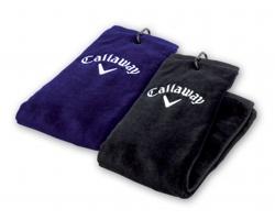 Golfový ručník Callaway CALLAWAY TOWEL s karabinou - černá