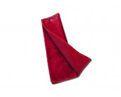 Golfový froté ručník GOLF TOWEL s kovovým poutkem - červená