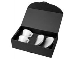 Porcelánová sada HORACIO s šálky a podšálky, 2ks, 150 ml - bílá