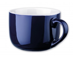 Keramický hrnek CHUBBY, 400 ml - tmavě modrá