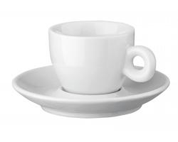 Porcelánový šálek s podšálkem na espresso PRESSO, 75 ml - bílá