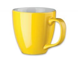 Porcelánový hrnek s hydroglazurou PANTHONY, 440 ml - žlutá