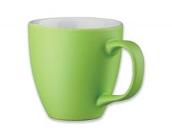Porcelánový hrnek s hydroglazurou PANTHONY MAT, 440 ml - světle zelená