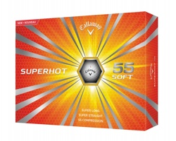 Set golfových míčků CALLAWAY SUPERHOT, 12 ks - bílá