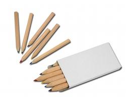 Dřevěné pastelky GOGH v krabičce, 6ks - bílá