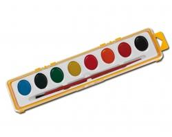 Vodové barvy PAINTER se štetečkem - žlutá