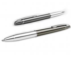Kovové kuličkové pero ANGELICA s klipem - šedá
