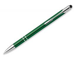 Kovové kuličkové pero OLEG SLIM STYLUS s funkcí touch pen - zelená