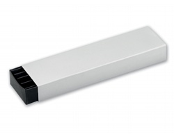 Papírová krabička na 2 pera SABINA - stříbrná