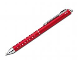 Multifunkční pero 3 v 1 BEATRICE s klipem - červená