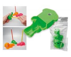 Plastové ořezávátko HIPPIK tvaru safari zvířátka, 2 funkce - šedá-zelená