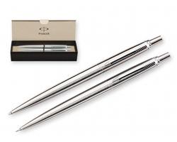 Sada kuličkového pera a mechanické tužky Parker JOTTER - stříbrná