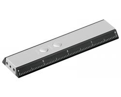 Multifunkční nástroj TOLA s LED svítilnou, laserem a pravítkem - černá