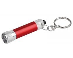 Kovová LED svítilna LAMP s kroužkem na klíče - červená