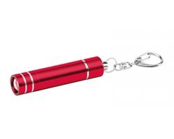 Kovová LED svítilna GLOWER s karabinou - červená