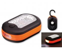 Pracovní LED svítilna CAMPER s magnetem a háčkem - oranžová