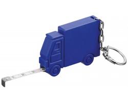 Plastový metr ve tvaru auta SPRINTER s kroužkem na klíče, 1m - modrá