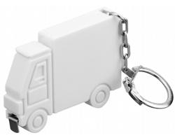 Plastový metr ve tvaru auta SPRINTER s kroužkem na klíče, 1m - bílá