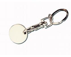Kovový přívěsek na klíček žeton do nákupního vozíku FIDO EU/PL - chrom