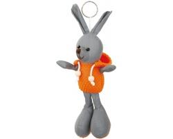 Reflexní přívěsek na klíče MATTY ve tvaru zajíce - oranžová