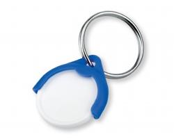 Plastový přívěšek na mince CATCH CZ s žetonem - modrá