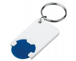 Plastový přívěsek na klíče žeton do nákupního vozíku CHIPSY, vel. 1 €, 5 Kč - tmavě modrá