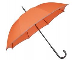 Klasický deštník STERLING s kovovou rukojetí - oranžová