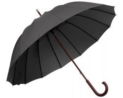 Velký deštník HULK s dřevěnou rukojetí - antracit
