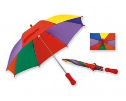 Dětský polyesterový deštník BAMBI s manuálním otevíráním - světle červená