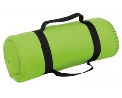 Cestovní deka FIT s popruhem - světle zelená