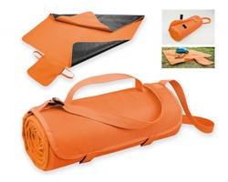 Fleecová cestovní deka FLEECE s voděodolnou úpravou - oranžová