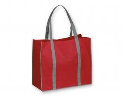 Netkaná nákupní taška VITELA - červená