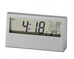 Stolní digitální hodiny SACHI - stříbrná