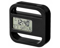 Stolní hodiny RAMOS s vizitkářem a magnetem - černá