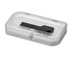 Plastová krabička na USB FLASH disk USB BOX III - transparentní