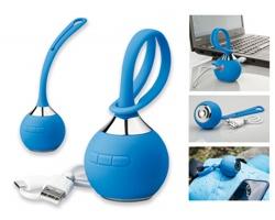 Plastový pogumovaný bluetooth reproduktor NITRO s voděodolnou úpravou - modrá