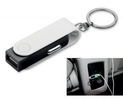 Plastový přívěsek USB adaptér do auta CARTECH pro nabíjení mobilních telefonů - černá